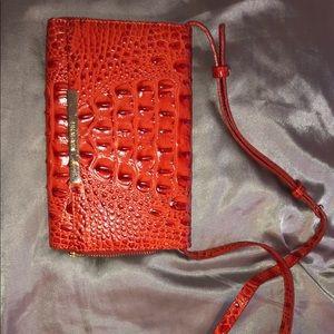 Red/blood orange Brahmin purse